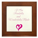 I am fearfully and wonderfully made Framed Tile