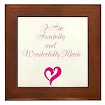 I am fearfully and wonderfully made Framed Tile