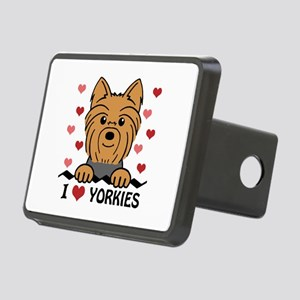 I Heart Yorkies Rectangular Hitch Cover