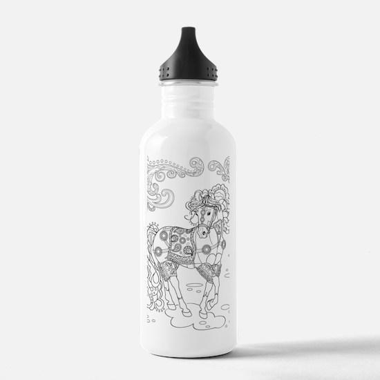 Prancing Paisley Horse Water Bottle