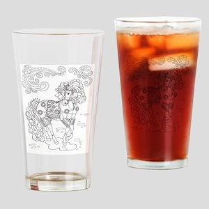 Prancing Paisley Horse Design: Drinking Glass