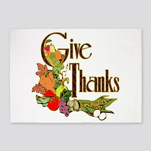 Give Thanks 5'x7'area Rug