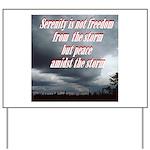 serenity-storm Yard Sign