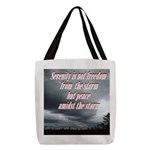 serenity-storm Polyester Tote Bag