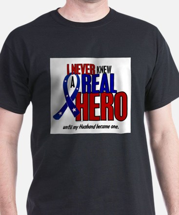 Never Knew A Hero 2 Military (Husband) T-Shirt