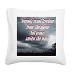 serenity-storm Square Canvas Pillow
