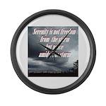 serenity-storm Large Wall Clock
