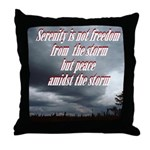 serenity-storm Throw Pillow