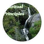 spiritual-principles Round Car Magnet