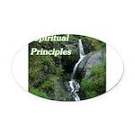 spiritual-principles Oval Car Magnet