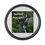 spiritual-principles Large Wall Clock