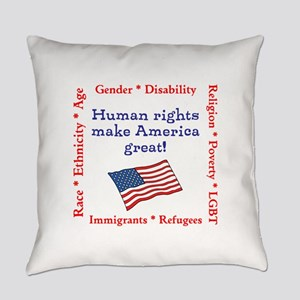 Human Rights Everyday Pillow