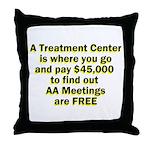 2-meetings-free Throw Pillow