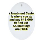 2-meetings-free Oval Ornament