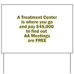 2-meetings-free Yard Sign