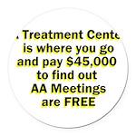2-meetings-free Round Car Magnet