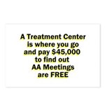 2-meetings-free Postcards (Package of 8)