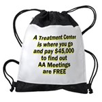 2-meetings-free Drawstring Bag