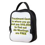 2-meetings-free Neoprene Lunch Bag