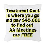 2-meetings-free Woven Throw Pillow