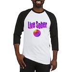 live-sober-aa Baseball Jersey