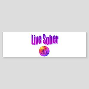 live-sober-aa Bumper Sticker