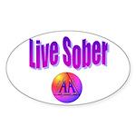 live-sober-aa Sticker