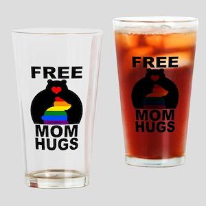 Free Mom Hugs (long) Drinking Glass
