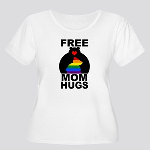 Free Mom Hugs (long) Plus Size T-Shirt