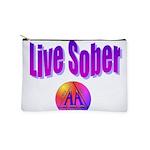 live-sober-aa Makeup Bag