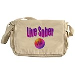 live-sober-aa Messenger Bag