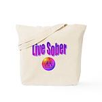 live-sober-aa Tote Bag