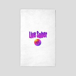 live-sober-aa Area Rug