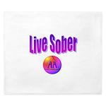 live-sober-aa King Duvet