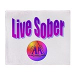 live-sober-aa Throw Blanket