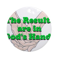 Gods Hands Round Ornament