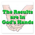 Gods Hands Square Car Magnet 3