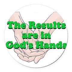 Gods Hands Round Car Magnet