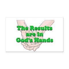 Gods Hands Rectangle Car Magnet