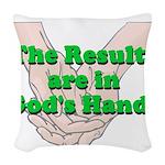 Gods Hands Woven Throw Pillow
