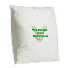 Gods Hands Burlap Throw Pillow