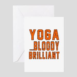 Yoga Bloody Brilliant Designs Greeting Card