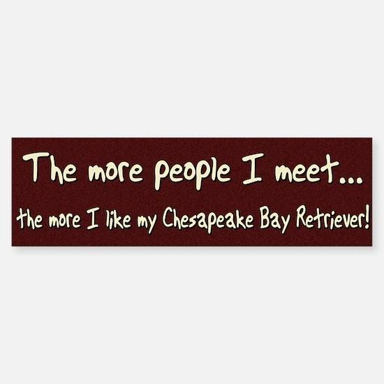 The More People Chessie Bumper Car Car Sticker