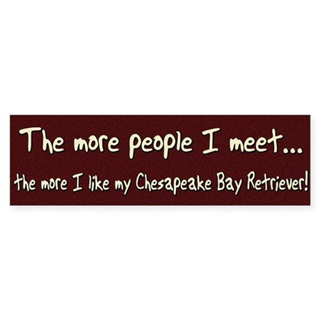 The More People Chessie Bumper Sticker