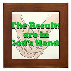 Gods Hands Framed Tile