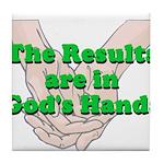 Gods Hands Tile Coaster