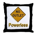 No Outlet Powerless Throw Pillow