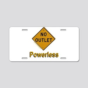 No Outlet Powerless Aluminum License Plate