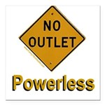 No Outlet Powerless Square Car Magnet 3