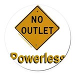 No Outlet Powerless Round Car Magnet